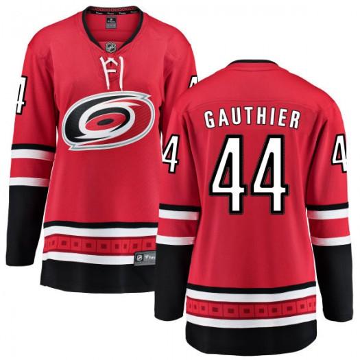 Julien Gauthier Carolina Hurricanes Women's Fanatics Branded Red Home Breakaway Jersey