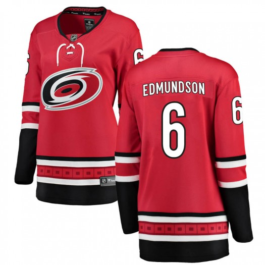 Joel Edmundson Carolina Hurricanes Women's Fanatics Branded Red Breakaway Home Jersey