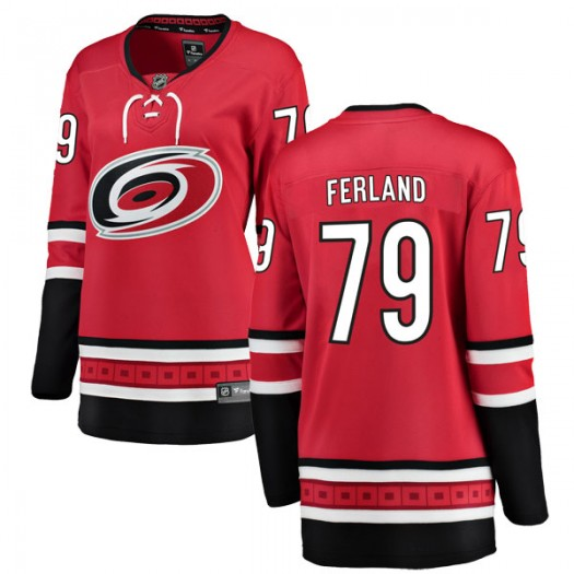 Micheal Ferland Carolina Hurricanes Women's Fanatics Branded Red Breakaway Home Jersey