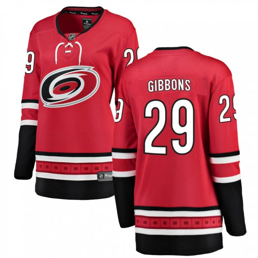 Brian Gibbons Carolina Hurricanes Women's Fanatics Branded Red Breakaway Home Jersey