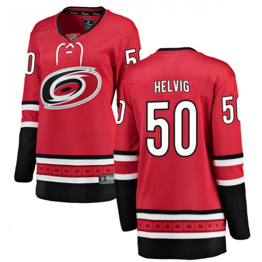 Jeremy Helvig Carolina Hurricanes Women's Fanatics Branded Red Breakaway Home Jersey