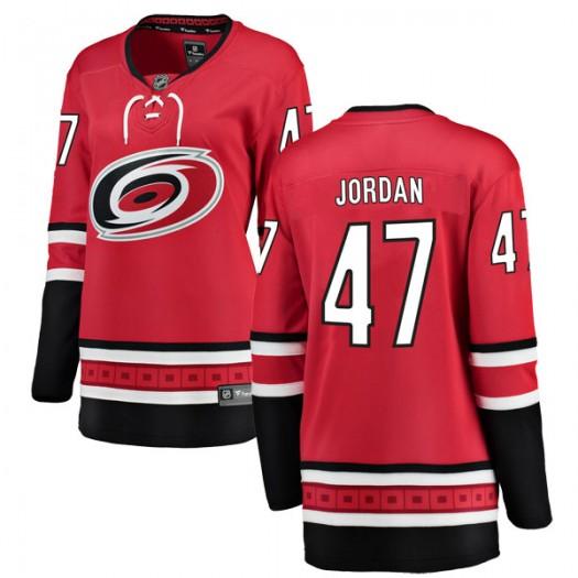 Michal Jordan Carolina Hurricanes Women's Fanatics Branded Red Breakaway Home Jersey