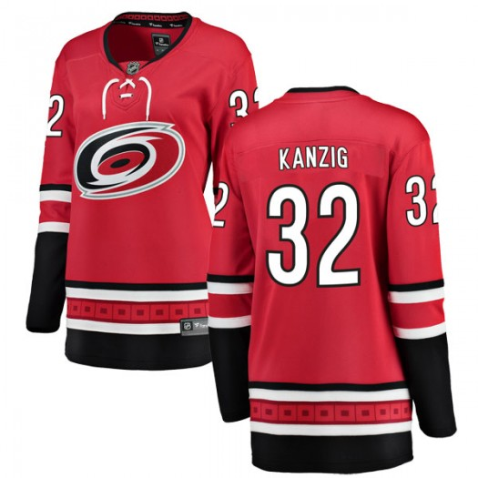 Keegan Kanzig Carolina Hurricanes Women's Fanatics Branded Red Breakaway Home Jersey