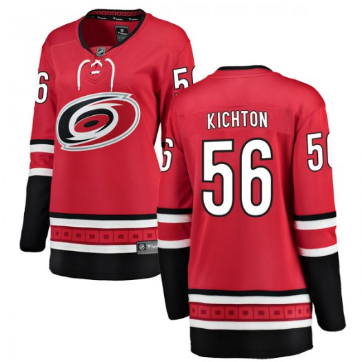 Brenden Kichton Carolina Hurricanes Women's Fanatics Branded Red Breakaway Home Jersey