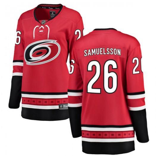 Philip Samuelsson Carolina Hurricanes Women's Fanatics Branded Red Breakaway Home Jersey