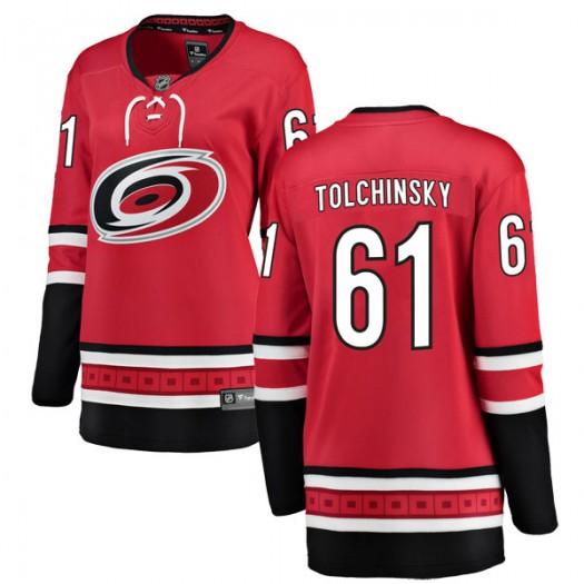 Sergey Tolchinsky Carolina Hurricanes Women's Fanatics Branded Red Breakaway Home Jersey