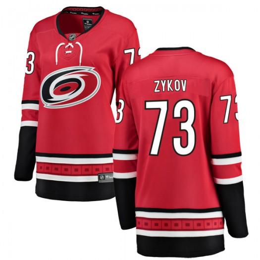 Valentin Zykov Carolina Hurricanes Women's Fanatics Branded Red Breakaway Home Jersey