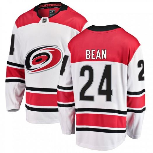 Jake Bean Carolina Hurricanes Men's Fanatics Branded White Breakaway Away Jersey