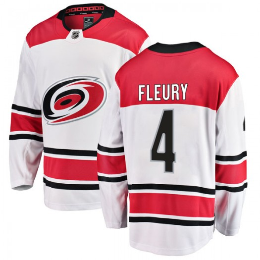 Haydn Fleury Carolina Hurricanes Men's Fanatics Branded White Breakaway Away Jersey