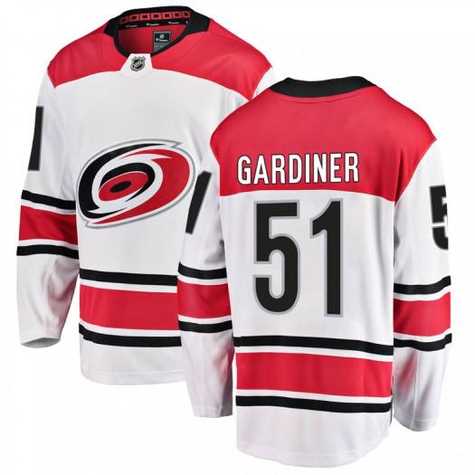 Jake Gardiner Carolina Hurricanes Men's Fanatics Branded White Breakaway Away Jersey