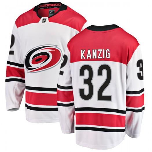 Keegan Kanzig Carolina Hurricanes Men's Fanatics Branded White Breakaway Away Jersey