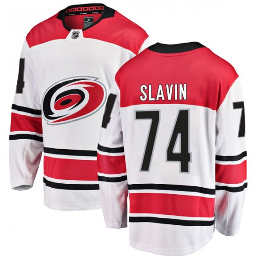 Jaccob Slavin Carolina Hurricanes Men's Fanatics Branded White Breakaway Away Jersey