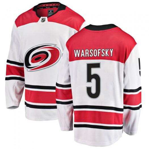 David Warsofsky Carolina Hurricanes Men's Fanatics Branded White Breakaway Away Jersey