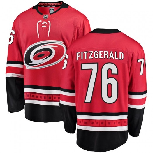 Cavan Fitzgerald Carolina Hurricanes Youth Fanatics Branded Red Breakaway Home Jersey