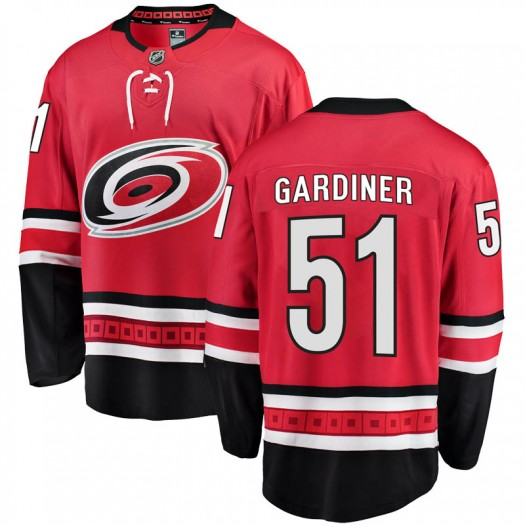 Jake Gardiner Carolina Hurricanes Youth Fanatics Branded Red Breakaway Home Jersey