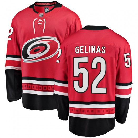 Eric Gelinas Carolina Hurricanes Youth Fanatics Branded Red Breakaway Home Jersey