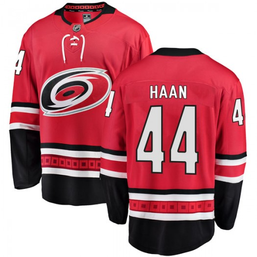 Calvin de Haan Carolina Hurricanes Youth Fanatics Branded Red Breakaway Home Jersey