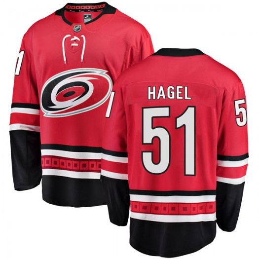Kyle Hagel Carolina Hurricanes Youth Fanatics Branded Red Breakaway Home Jersey
