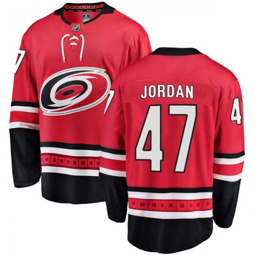 Michal Jordan Carolina Hurricanes Youth Fanatics Branded Red Breakaway Home Jersey