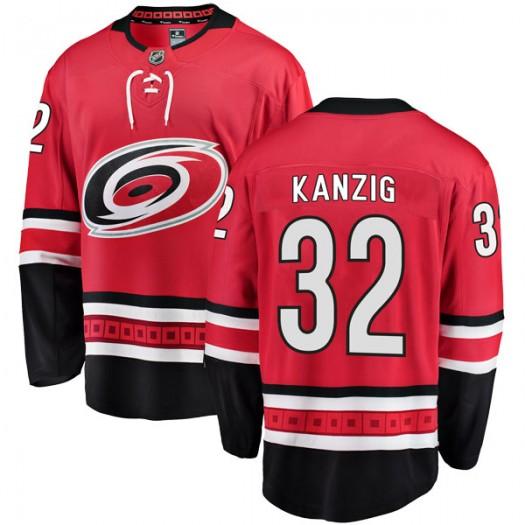 Keegan Kanzig Carolina Hurricanes Youth Fanatics Branded Red Breakaway Home Jersey