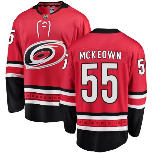 Roland McKeown Carolina Hurricanes Youth Fanatics Branded Red Breakaway Home Jersey