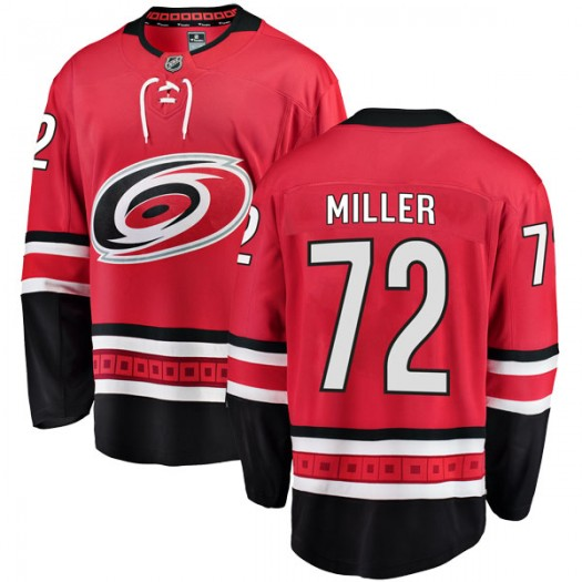 Andrew Miller Carolina Hurricanes Youth Fanatics Branded Red Breakaway Home Jersey