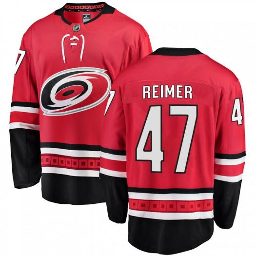 James Reimer Carolina Hurricanes Youth Fanatics Branded Red Breakaway Home Jersey