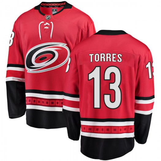 Raffi Torres Carolina Hurricanes Youth Fanatics Branded Red Breakaway Home Jersey