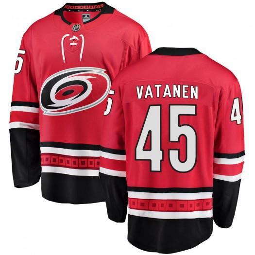 Sami Vatanen Carolina Hurricanes Youth Fanatics Branded Red ized Breakaway Home Jersey