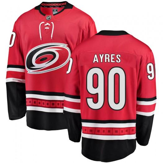 David Ayres Carolina Hurricanes Men's Fanatics Branded Red Breakaway Home Jersey