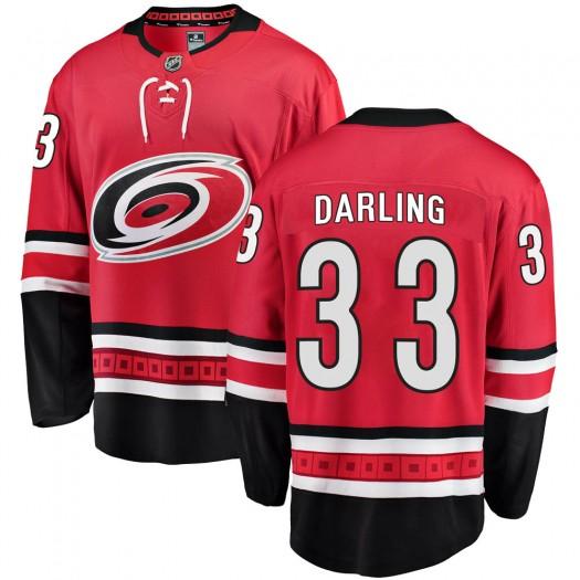 Scott Darling Carolina Hurricanes Men's Fanatics Branded Red Breakaway Home Jersey