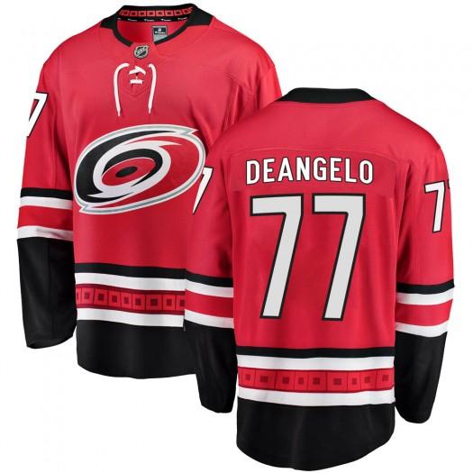 Tony DeAngelo Carolina Hurricanes Men's Fanatics Branded Red Breakaway Home Jersey