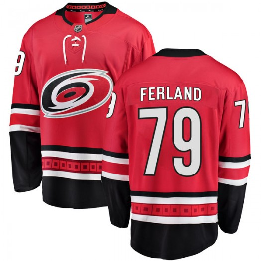 Micheal Ferland Carolina Hurricanes Men's Fanatics Branded Red Breakaway Home Jersey