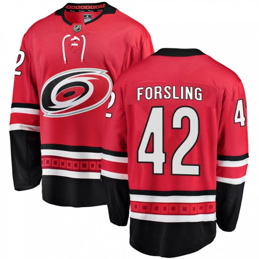 Gustav Forsling Carolina Hurricanes Men's Fanatics Branded Red Breakaway Home Jersey