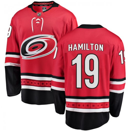 Dougie Hamilton Carolina Hurricanes Men's Fanatics Branded Red Breakaway Home Jersey