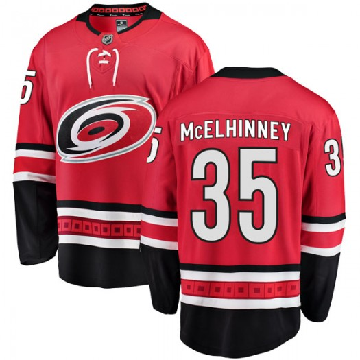 Curtis McElhinney Carolina Hurricanes Men's Fanatics Branded Red Breakaway Home Jersey