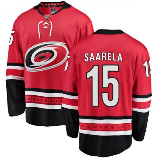 Aleksi Saarela Carolina Hurricanes Men's Fanatics Branded Red Breakaway Home Jersey