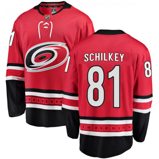Nick Schilkey Carolina Hurricanes Men's Fanatics Branded Red Breakaway Home Jersey