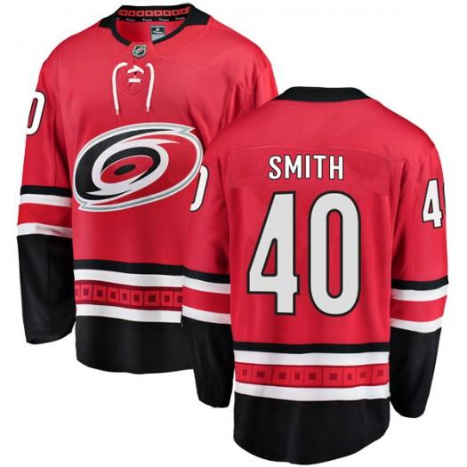 Jeremy Smith Carolina Hurricanes Men's Fanatics Branded Red Breakaway Home Jersey