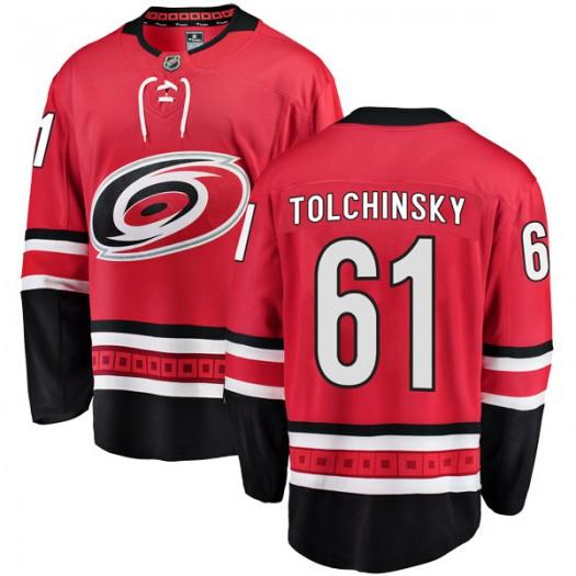 Sergey Tolchinsky Carolina Hurricanes Men's Fanatics Branded Red Breakaway Home Jersey