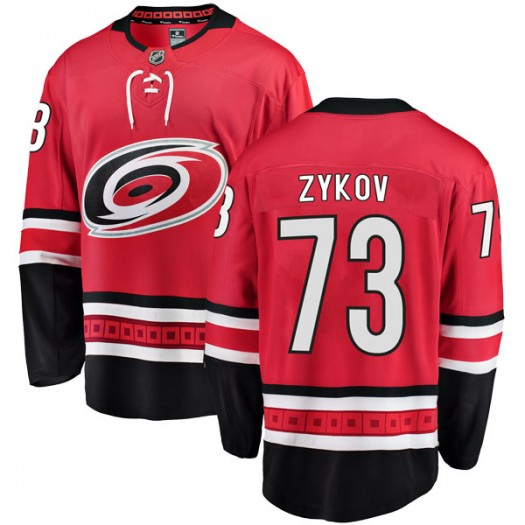 Valentin Zykov Carolina Hurricanes Men's Fanatics Branded Red Breakaway Home Jersey