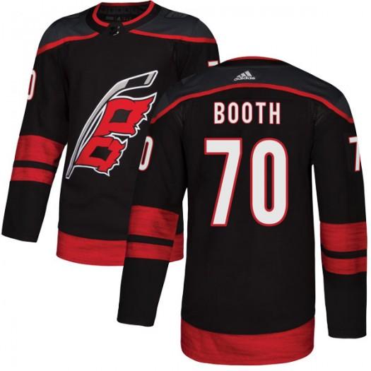 Callum Booth Carolina Hurricanes Men's Adidas Authentic Black Alternate Jersey