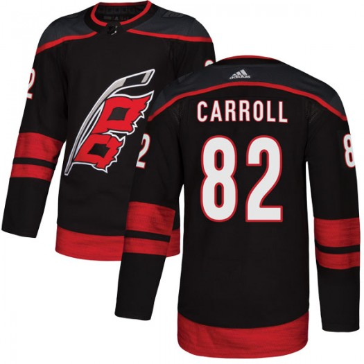 Noah Carroll Carolina Hurricanes Men's Adidas Authentic Black Alternate Jersey