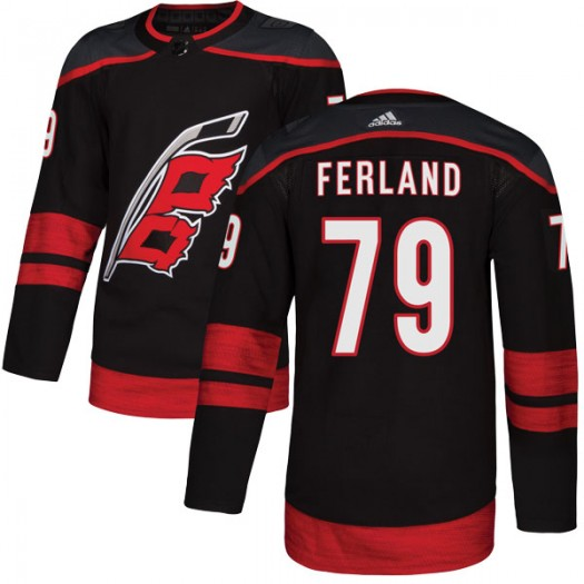 Micheal Ferland Carolina Hurricanes Men's Adidas Authentic Black Alternate Jersey