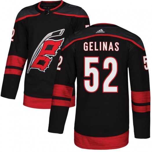 Eric Gelinas Carolina Hurricanes Men's Adidas Authentic Black Alternate Jersey