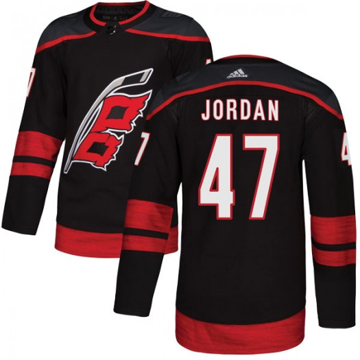 Michal Jordan Carolina Hurricanes Men's Adidas Authentic Black Alternate Jersey
