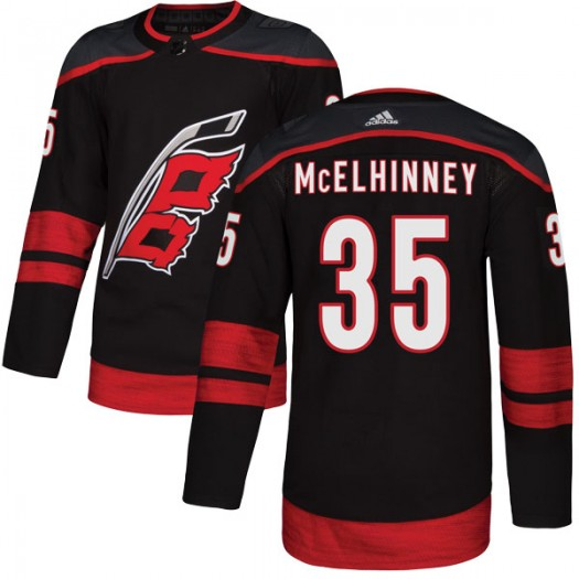 Curtis McElhinney Carolina Hurricanes Men's Adidas Authentic Black Alternate Jersey