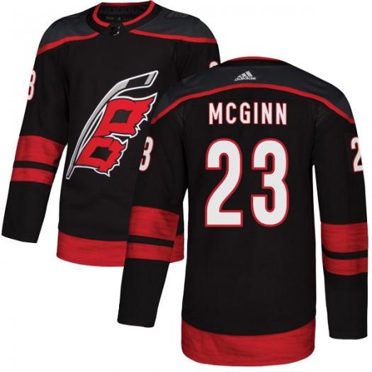 Brock Mcginn Carolina Hurricanes Men's Adidas Authentic Black Alternate Jersey