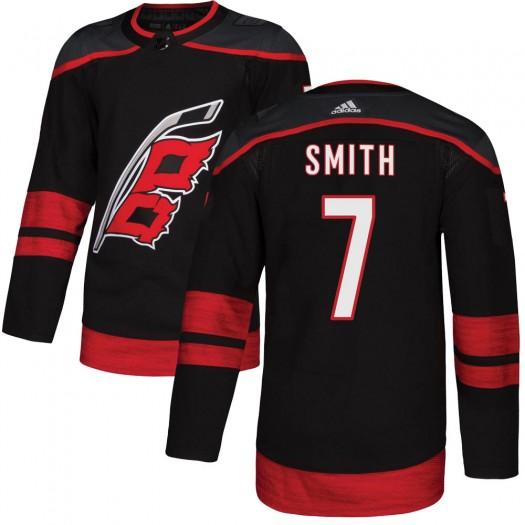 Brendan Smith Carolina Hurricanes Men's Adidas Authentic Black Alternate Jersey