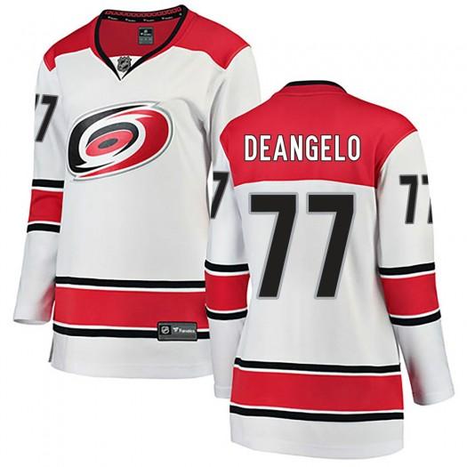 Tony DeAngelo Carolina Hurricanes Women's Fanatics Branded White Breakaway Away Jersey
